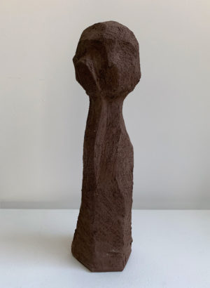 Little Brown Thinker - Kristiina Engelin - Ceramic Sculpture