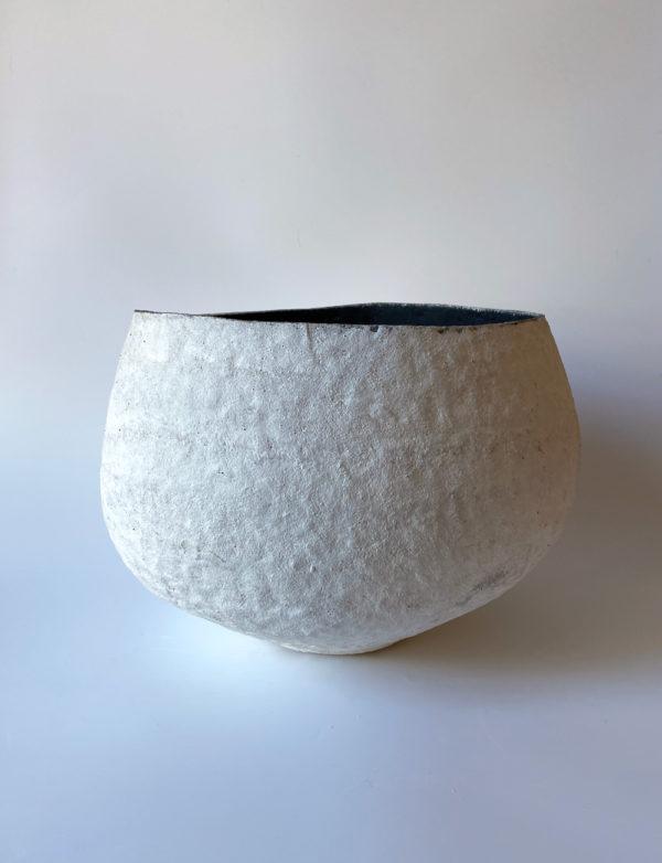 Big White Pod - Katarina Wells - Ceramic Sculpture